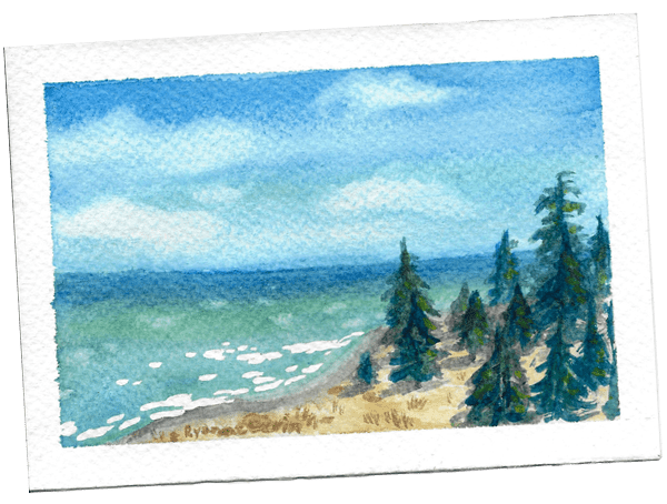 monthly art postcard giveaway- ryanne levin