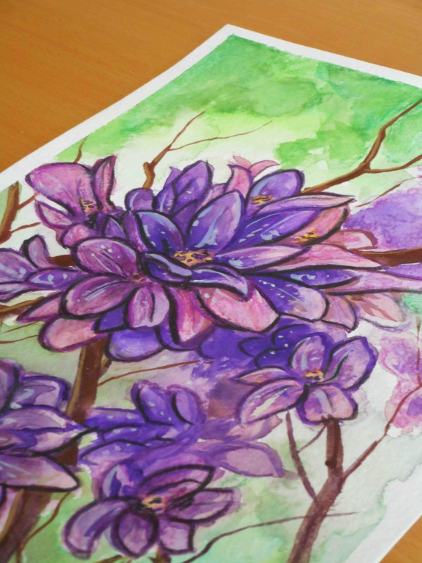 purple flowers detail