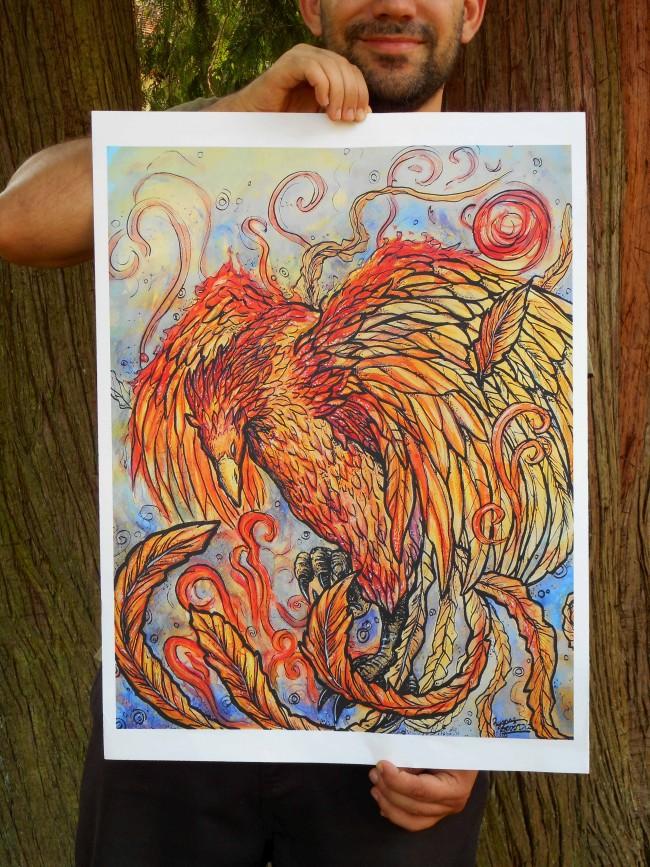rise of the phoenix print