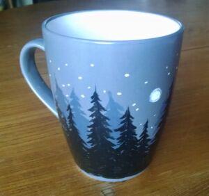 Diy ceramic mug painting tutorial dark forest scene final dark forest mug solutioingenieria Choice Image