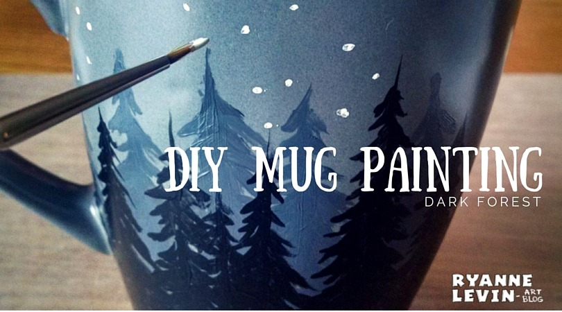 DIY Forest Mug Painting
