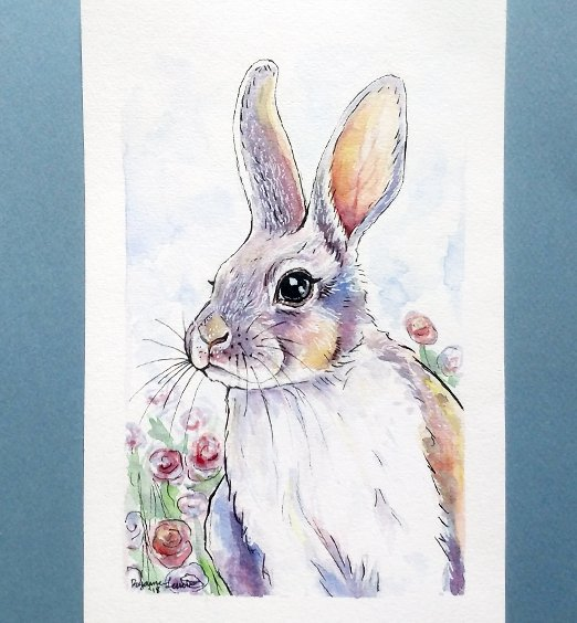 sunset-rabbit-watercolor-ryanne-levin-art2