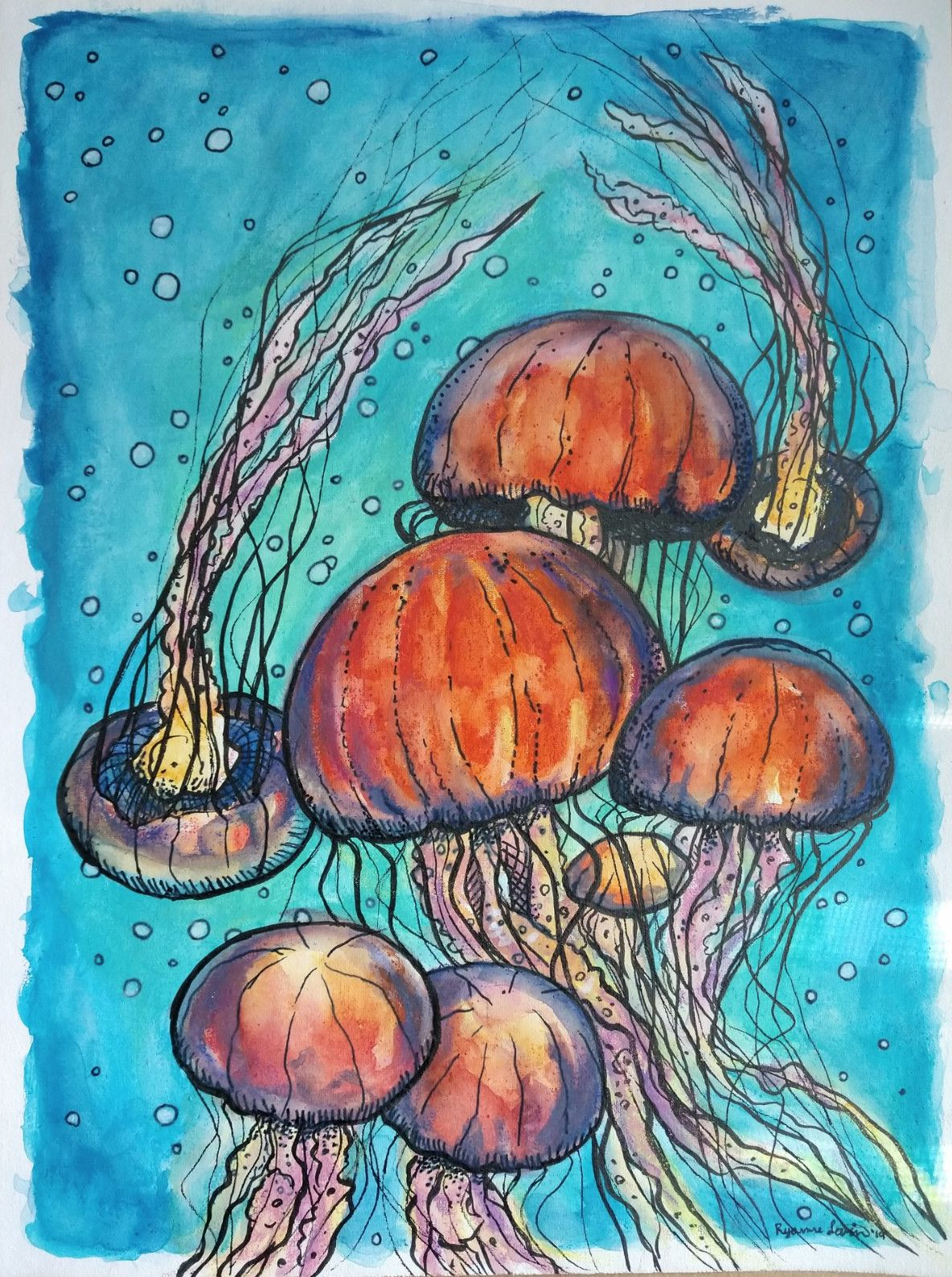 jellyrish-neocolor2-crayons-ryanne-levin-art-yes-all-media-canvas