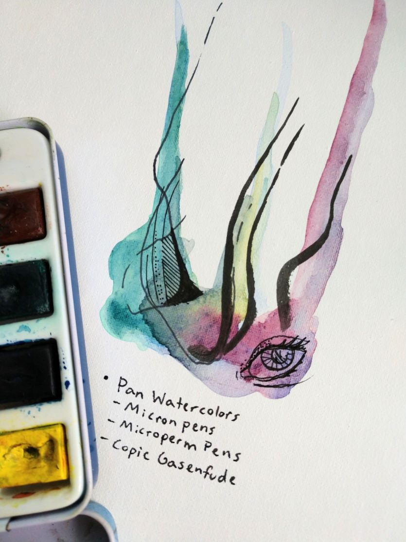 watercolors on Yes! All Media Artist Canvas